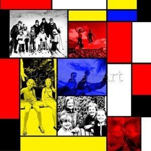 Mondriaan foto collage