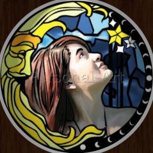 Glas in Lood Portret