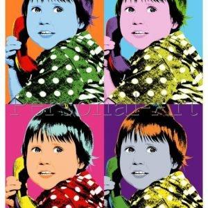 Warhol Stijl Pop Art Portret