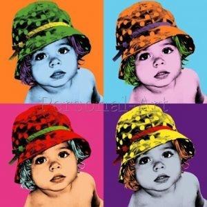 Korrelig Warhol Pop-Art Portret